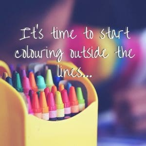 It's time to start coloring outside the lines